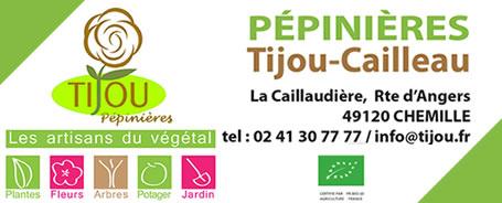 Pépinière Tijou-Cailleau à Chemillé au cœur de l'Anjou